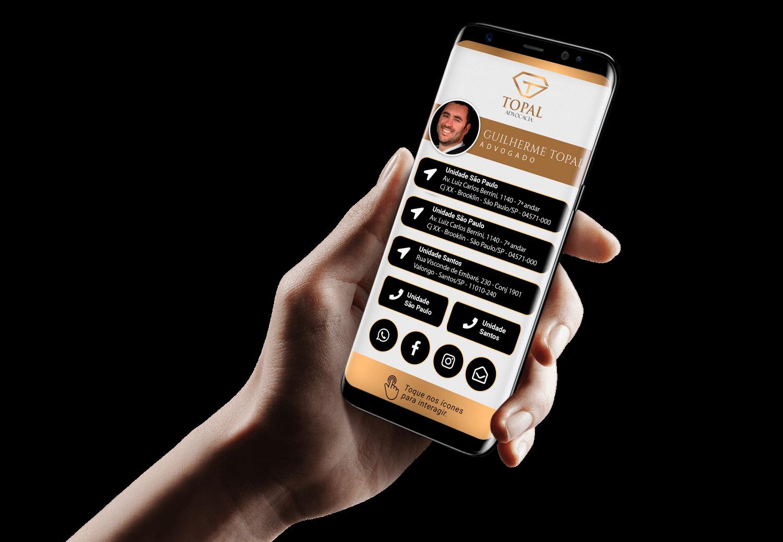 Cartão de Visita Digital para Advogados